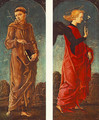 St Francis of Assisi and Announcing Angel (panels of a polyptych) c. 1475 - Cosme Tura