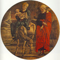 Flight to Egypt (from the predella of the Roverella Polyptych) 1474 - Cosme Tura