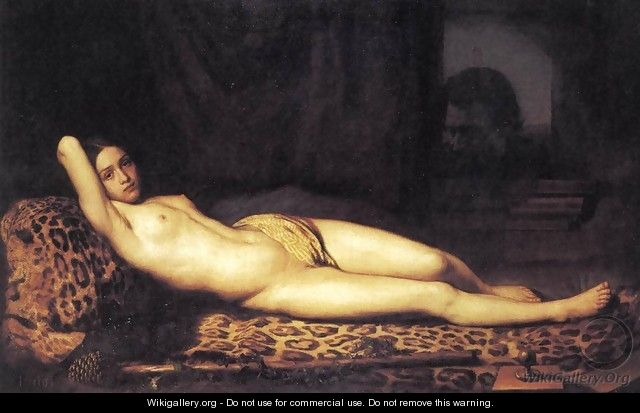 Nude Girl on a Panther Skin 1844 - Felix Trutat