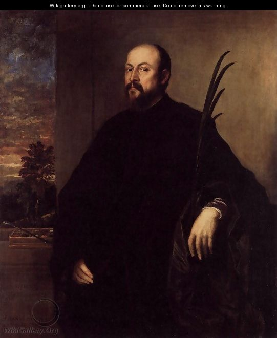 Portrait of a Man with a Palm 1561 - Tiziano Vecellio (Titian)