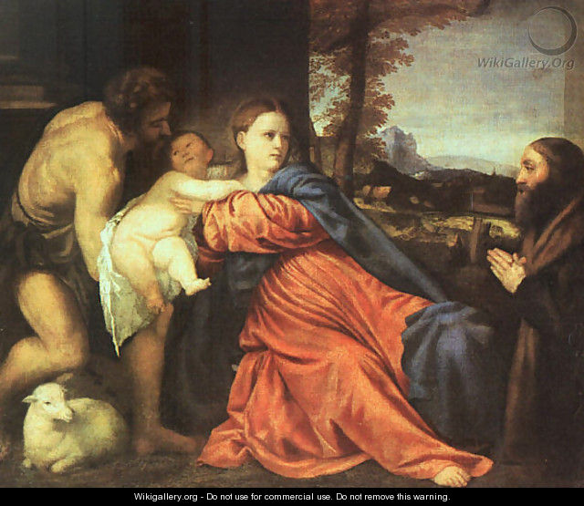 Holy Family and Donor 1513-14 - Tiziano Vecellio (Titian)