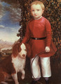Portrait of a Boy with a Dog - Joseph Whiting Stock