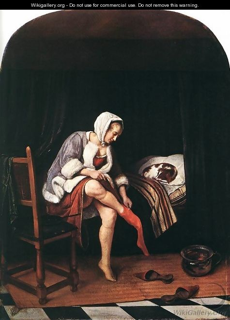 The Morning Toilet c. 1665 - Jan Steen