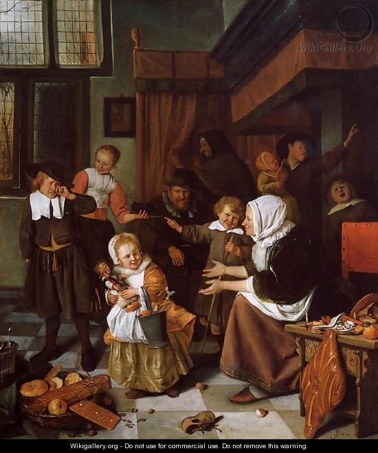 The Feast of St. Nicholas 1665-68 - Jan Steen