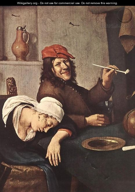 The Drinker (detail) c. 1660 - Jan Steen