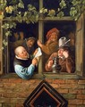 Rhetoricians at a Window 1662-66 - Jan Steen