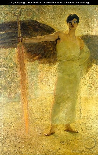 The Guardian of Paradise 1889 - Franz von Stuck