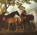 Mares and Foals in a Landscape (detail) 1760-69 - George Stubbs
