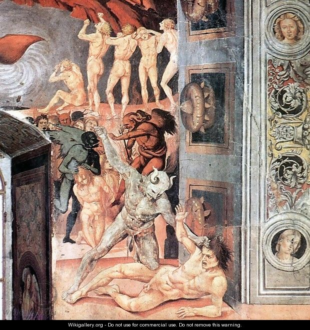 The Damned Being Plunged into Hell (detail-2) 1499-1502 - Francesco Signorelli