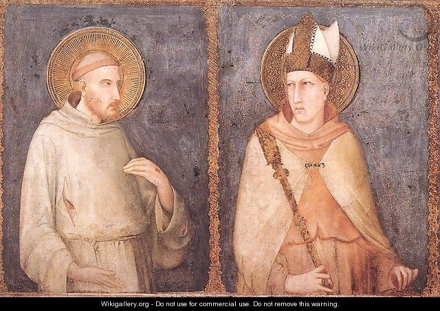 St Francis and St Louis of Toulouse 1318 - Louis de Silvestre
