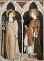 St Clare and St Elizabeth of Hungary 1317 - Louis de Silvestre