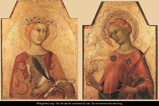 St Catherine and St Lucy 1320-25 - Louis de Silvestre