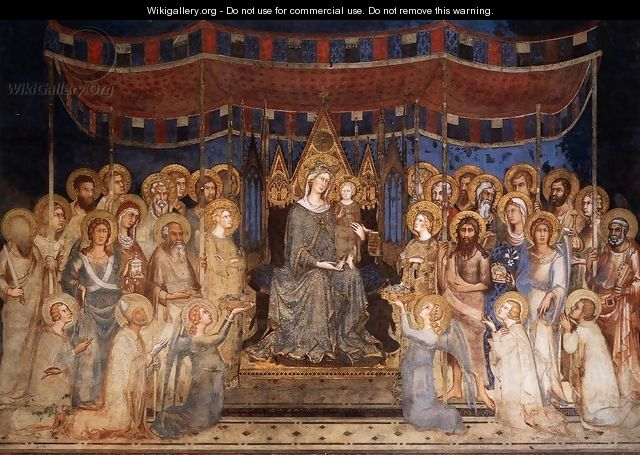 Maesta (Madonna with Angels and Saints) 1315 - Louis de Silvestre