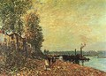 The Tugboat 1883 - Alfred Sisley