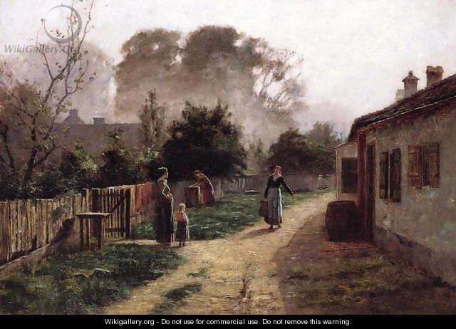 Village Scene 1885 - Theodore Clement Steele