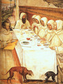 St. Benedict and his Monks Eating in the Refectory - Il Sodoma (Giovanni Antonio Bazzi)
