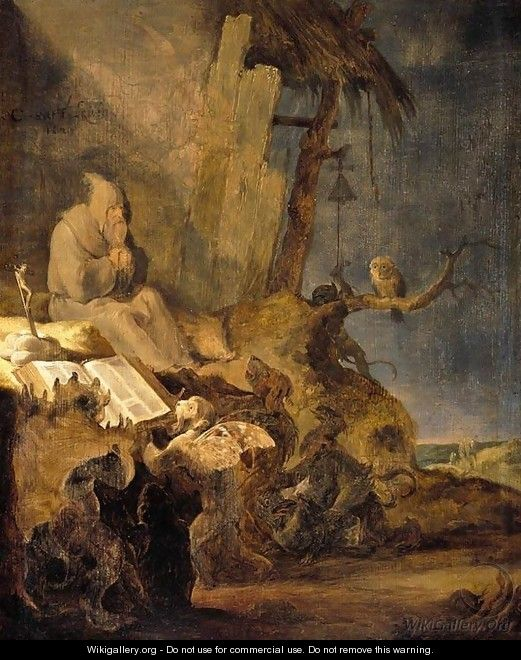 The Temptation of St Anthony 1629 - Cornelis Saftleven