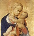 Virgin with Child and Four Saints (detail-1) c. 1435 - Stefano Di Giovanni Sassetta