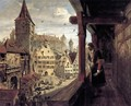 Albrecht Dürer on the Balcony of his House 1854 - William Bell Scott