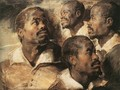 Four Studies of the Head of a Negro - Peter Paul Rubens