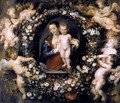 Madonna in Floral Wreath c. 1620 - Peter Paul Rubens