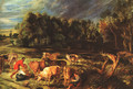 Landscape with Cows c. 1636 - Peter Paul Rubens