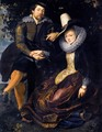 The Artist and His First Wife, Isabella Brant, in the Honeysuckle Bower 1609-10 - Peter Paul Rubens