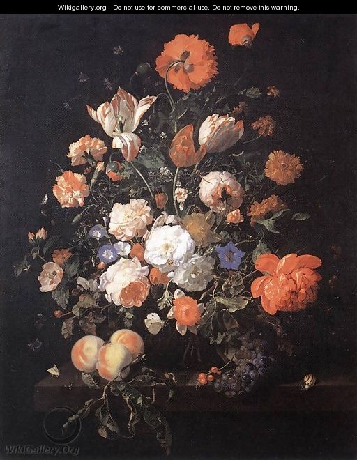 A Vase of Flowers 1706 - Rachel Ruysch