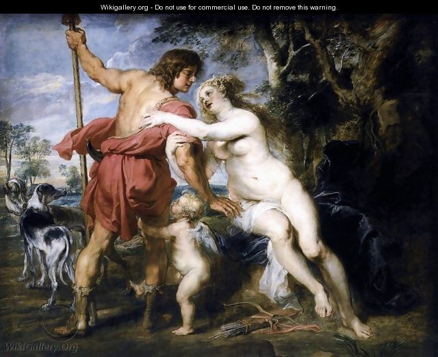 Venus and Adonis c. 1635 - Peter Paul Rubens