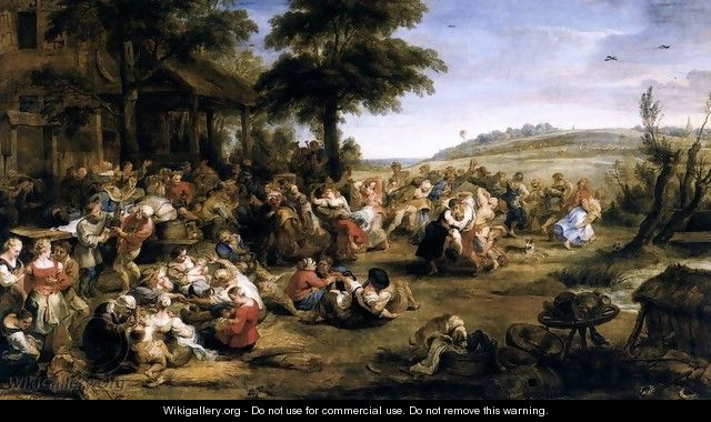 The Village Fete (Flemish Kermis) 1635-38 - Peter Paul Rubens