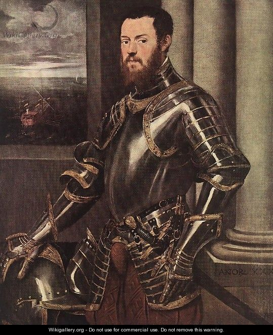 Man in Armour c. 1550 - Jacopo Tintoretto (Robusti)