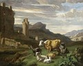 Italianate Landscape (2) - Willem Romeijn