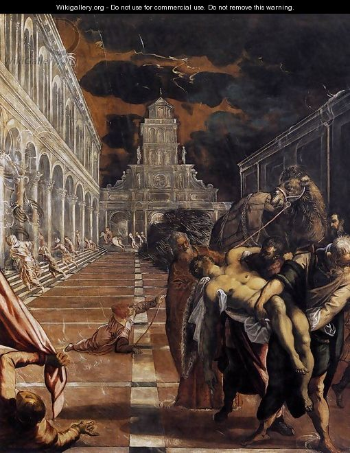 The Stealing of the Dead Body of St Mark 1562-66 - Jacopo Tintoretto (Robusti)