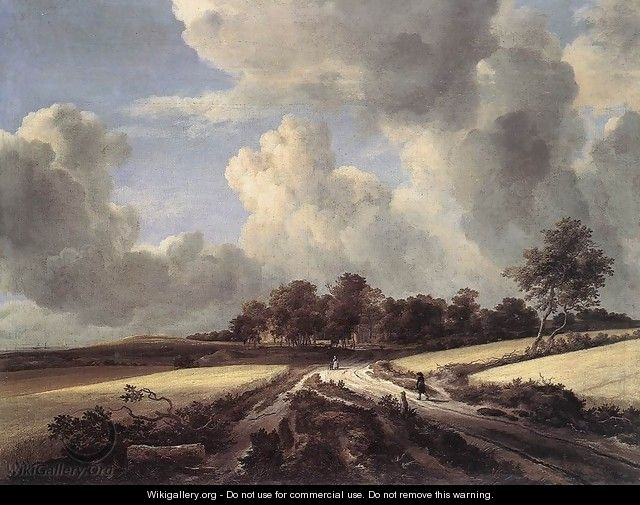 Wheat Fields 1670s - Jacob Van Ruisdael