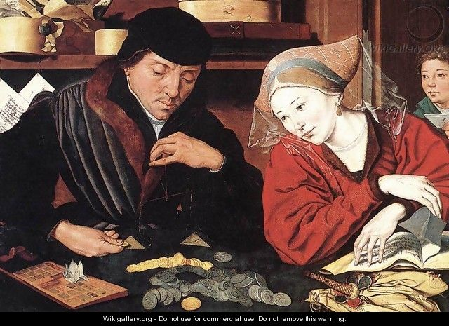 The Banker and His Wife - Marinus van Reymerswaele