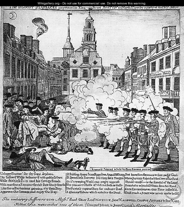 The Bloody Massacre 1770 - Paul Revere