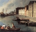 View of the Giudecca Canal (detail) 1730s - Johann Richter
