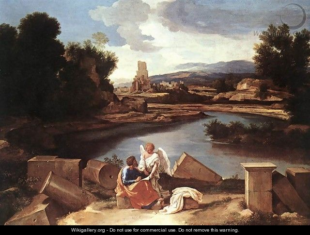 Landscape with St Matthew and the Angel c. 1645 - Nicolas Poussin