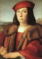 Portrait of a Man with an Apple (possibly Francesco Maria della Rovere) 1503-04 - Raphael