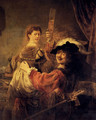 Self-portrait With Saskia (or The Prodigal Son With A Whore) - Rembrandt Van Rijn