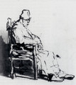 Seated Old Man (possibly Rembrandt's father) - Rembrandt Van Rijn