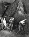 The Inferno, Canto 28, lines 30,31: Now mark how I do rip me: lo! How is Mahomet mangled. - Gustave Dore