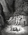 "The Inferno, Canto 25, lines 59-61: The other two Look'd on exclaiming: ""Ah, how dost thou change, Agnello!"" - Gustave Dore"