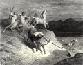 The Inferno, Canto 12, lines 73-74: We to those beasts, that rapid strode along, Drew near - Gustave Dore