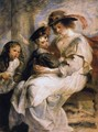 Helene Fourment With Two Of Her Children, Claire-Jeanne And Francois - Peter Paul Rubens