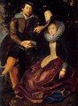 Self-portrait With Isabella Brant 2 - Peter Paul Rubens