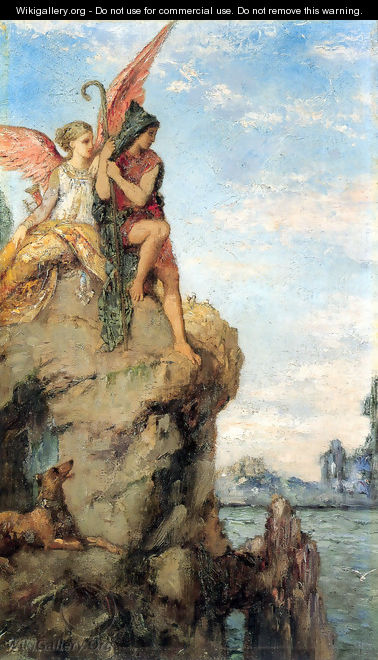 Hesiod and the Muse - Gustave Moreau