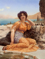 'With Violets Wreathed and Robe of Saffron Hue' - John William Godward
