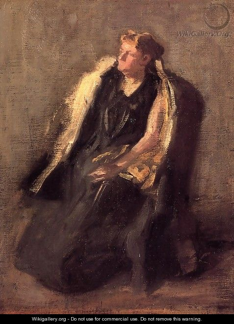 Portrait of Mrs. Hubbard (sketch) - Thomas Cowperthwait Eakins