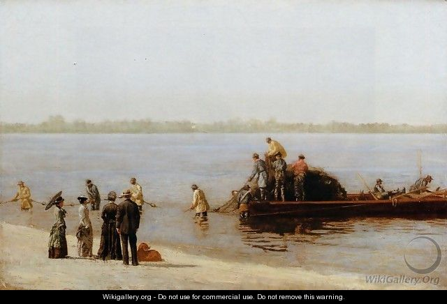 Shad Fishing at Gloucester on the Delaware River - Thomas Cowperthwait Eakins